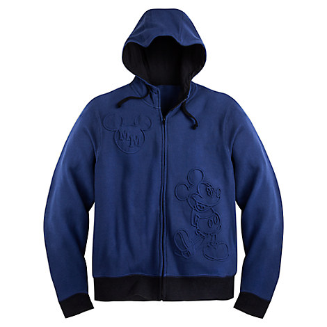 Mickey Mouse Zip Fleece Hoodie for Adults