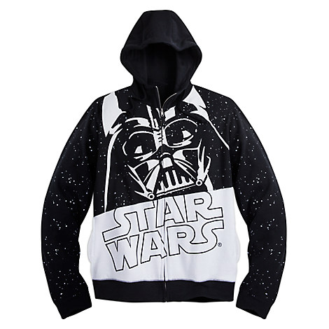 Darth Vader Zip Fleece Hoodie for Adults