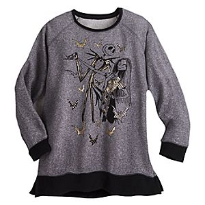 The Nightmare Before Christmas Raglan Sleeve Fleece for Women