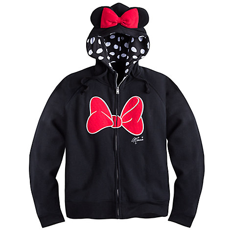 Minnie Mouse Hoodie with Ears for Women - Plus Size