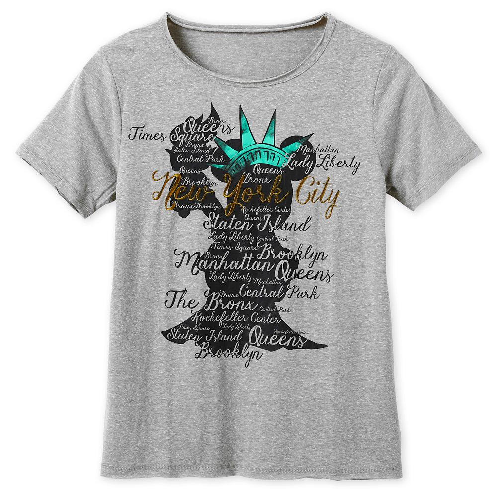 Minnie Mouse Statue of Liberty Crown T-Shirt for Women – New York City