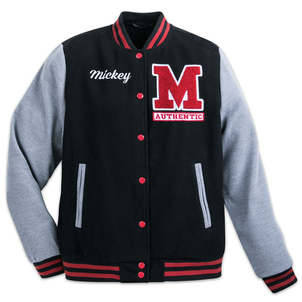 Mickey Mouse Letterman Jacket for Adults