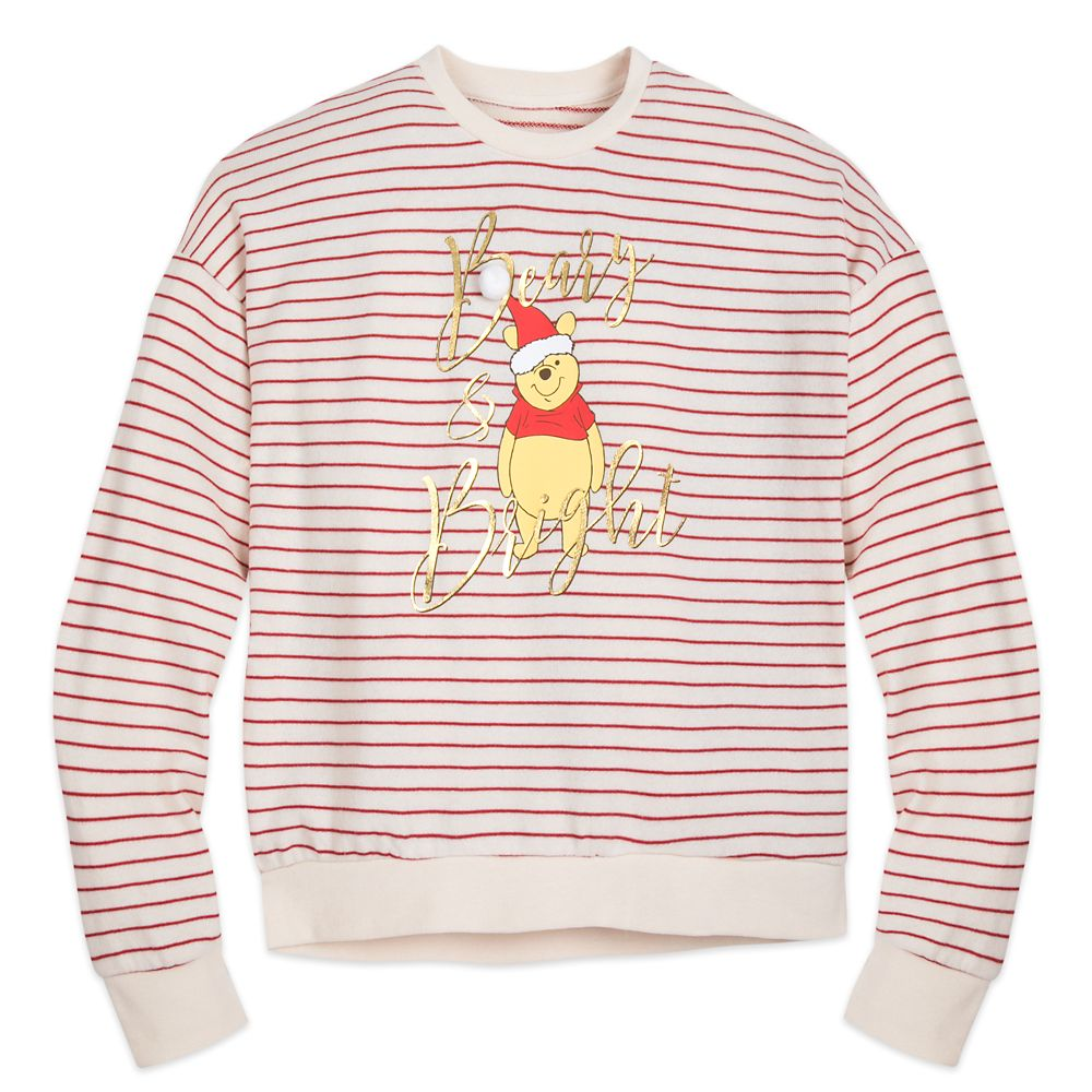Winnie the Pooh Holiday Pullover Sweater for Women