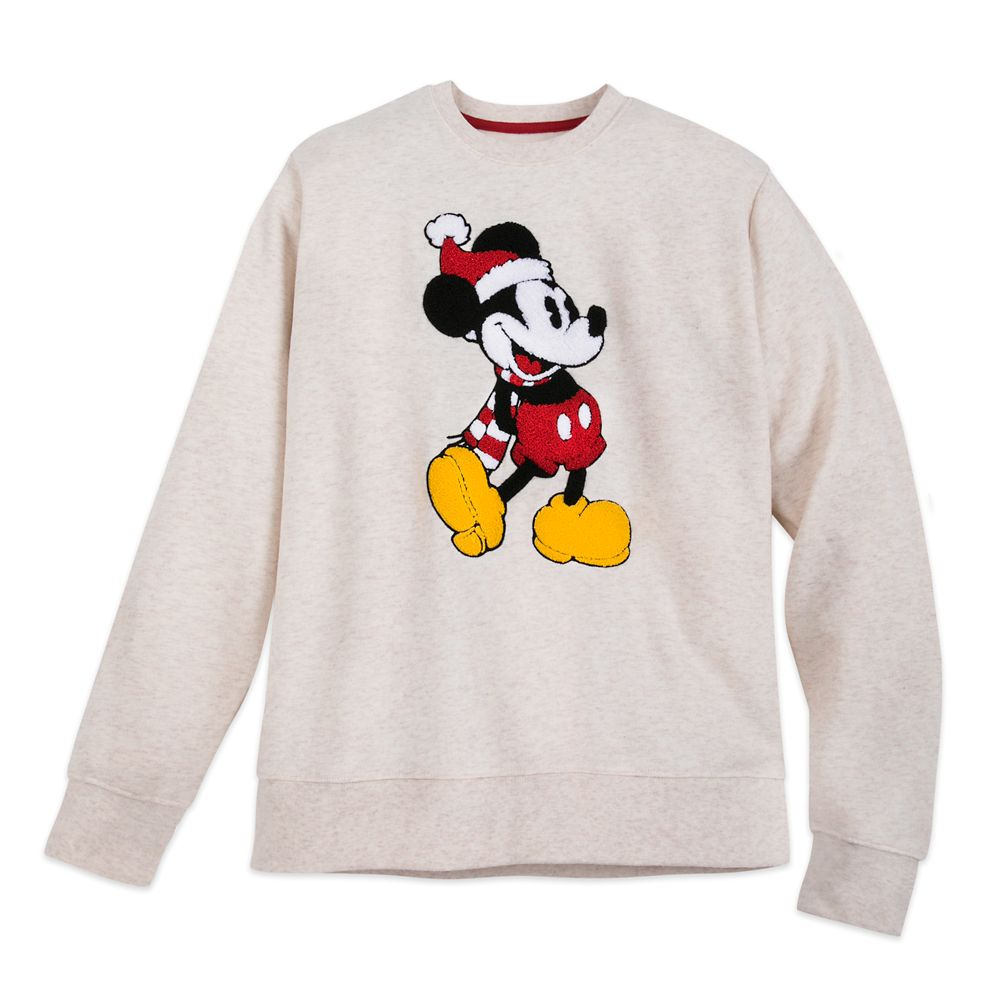 Mickey Mouse Heathered Holiday Pullover for Adults