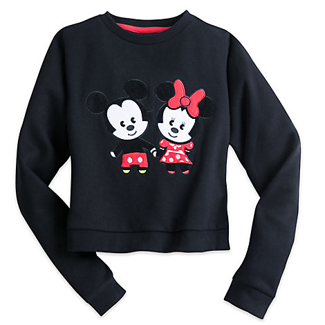 Mickey & Minnie Mouse MXYZ Cropped Hem Sweatshirt for Juniors