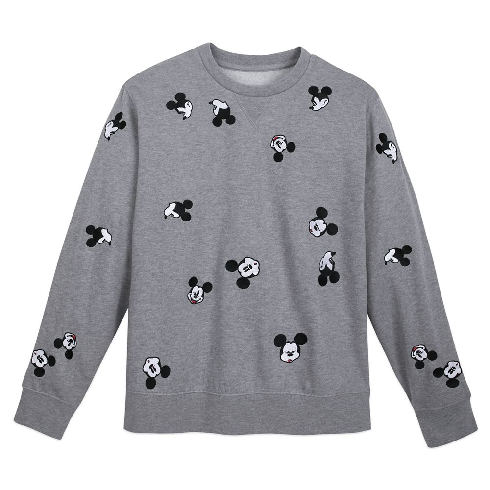 competitive price d2928 3f404 Mickey Mouse Pullover Sweater for Adults – Gray