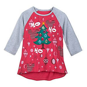 Mickey Mouse DIY Holiday Tree Raglan Shirt for Women