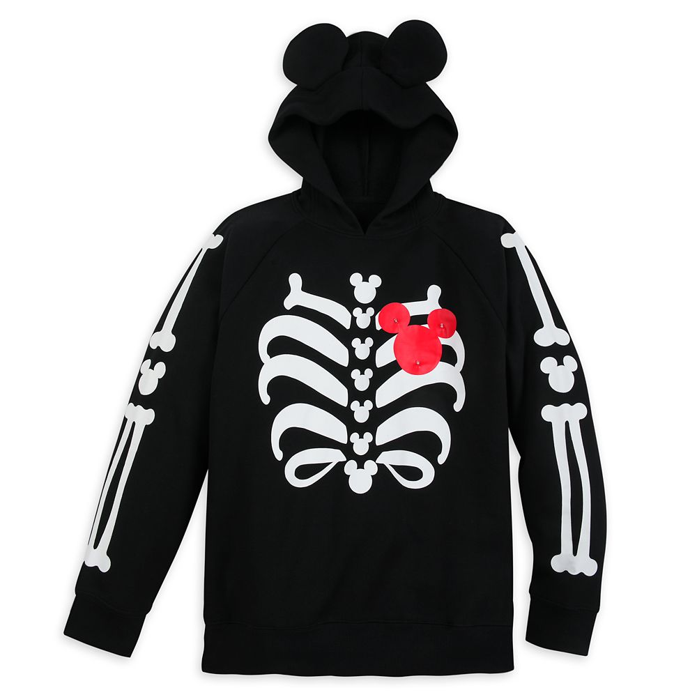 Mickey Mouse Light-Up Halloween Hoodie for Adults