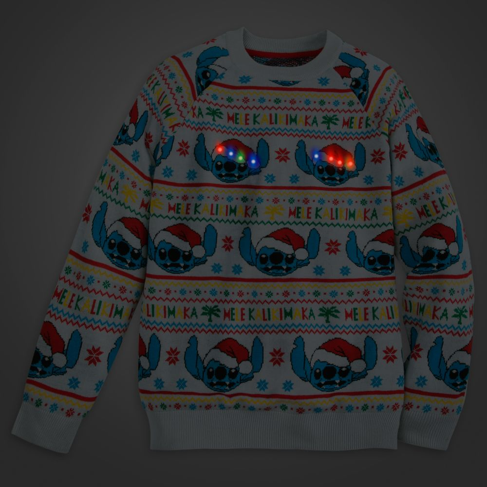Stitch Light-Up Holiday Sweater for Adults