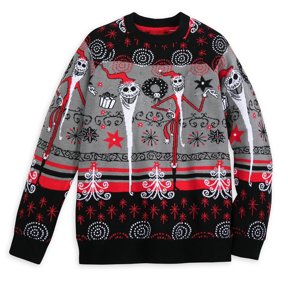 Jack Skellington Light-Up Holiday Sweater for Adults