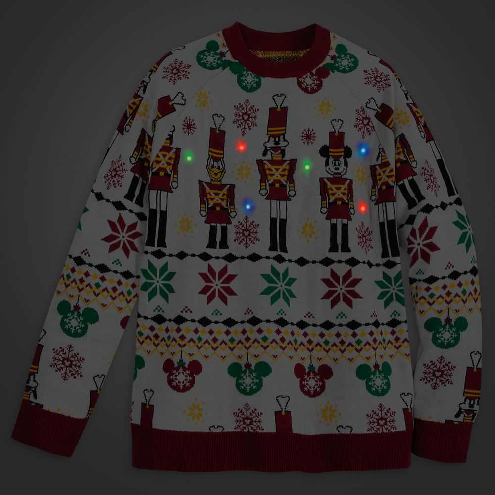 Mickey Mouse and Friends Light-Up Holiday Sweater for Adults