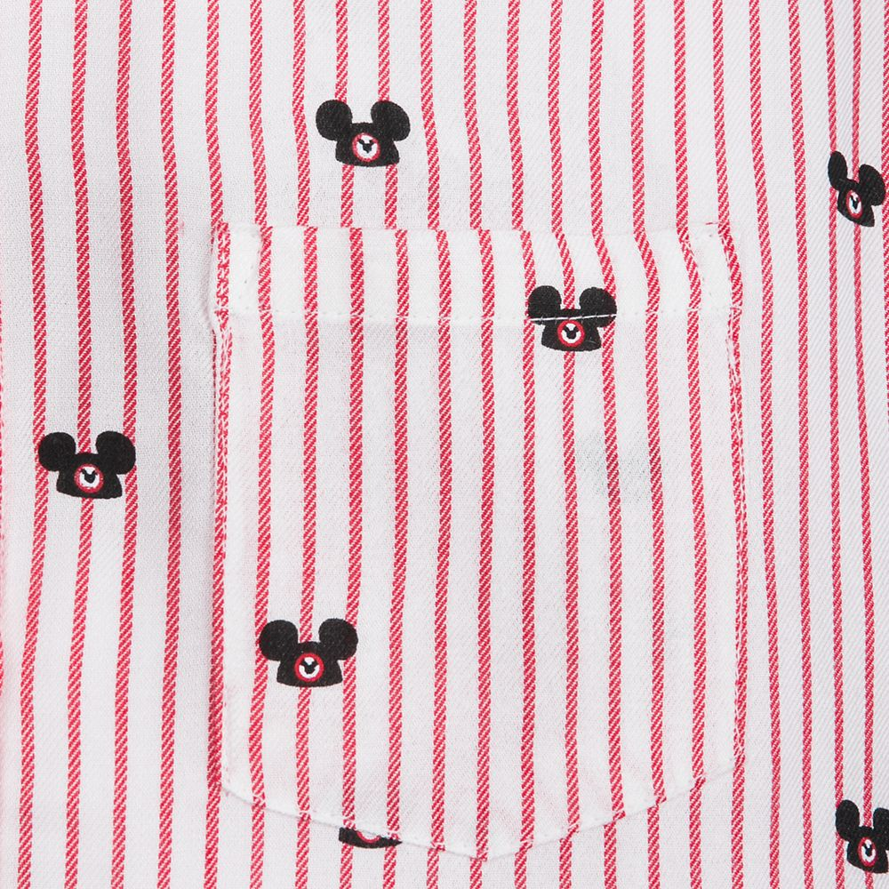 Mickey Mouse Ear Hat Striped Shirt for Adults