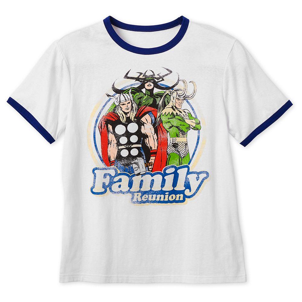 Thor, Loki, and Hela ''Family Reunion'' Ringer T-Shirt for Men