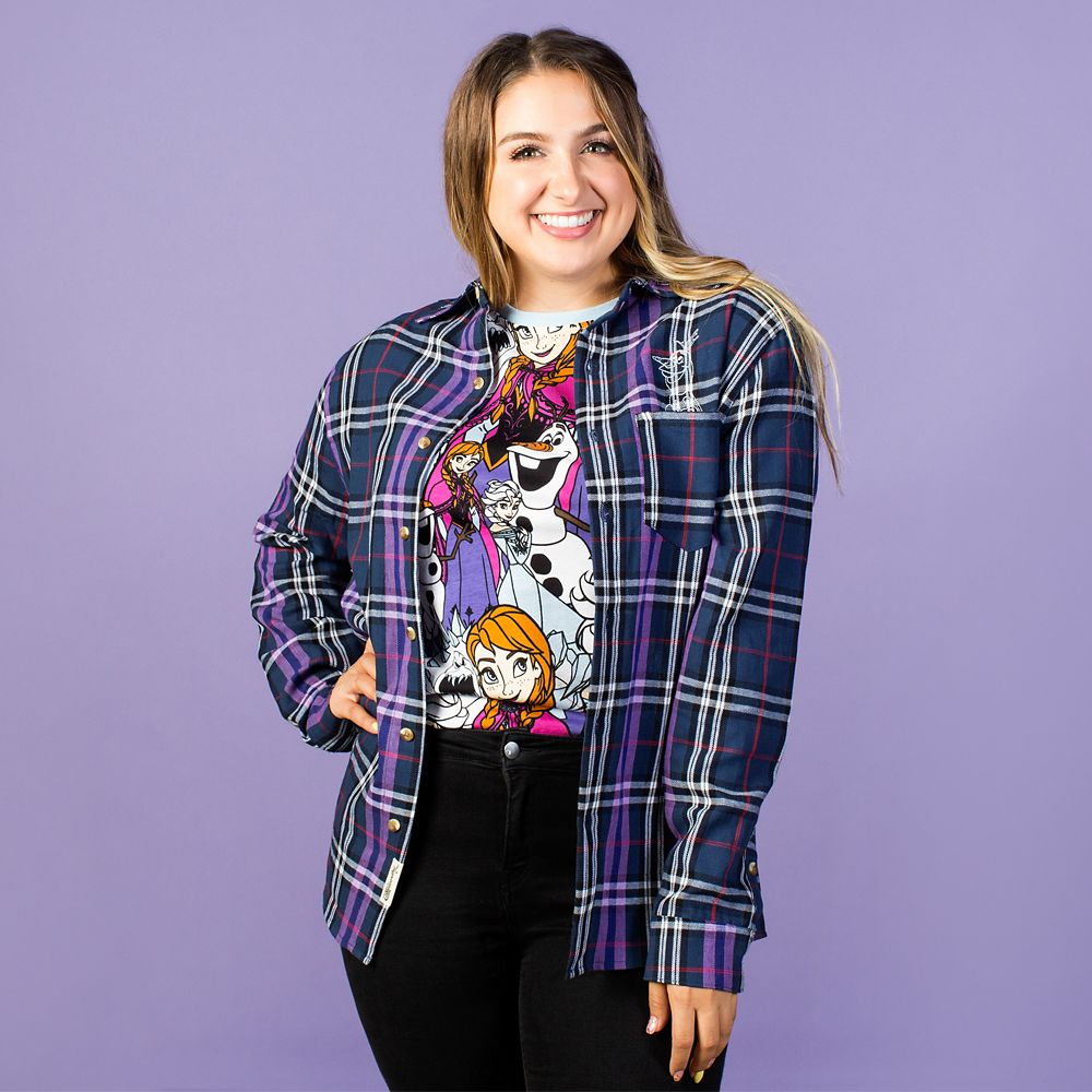 Elsa and Olaf Flannel Shirt for Adults by Cakeworthy – Frozen