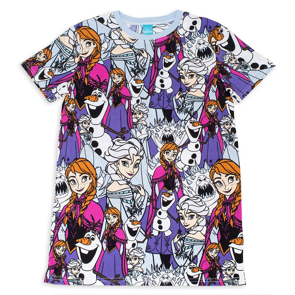 Elsa, Anna, Olaf and Marshmallow T-Shirt for Adults by Cakeworthy – Frozen