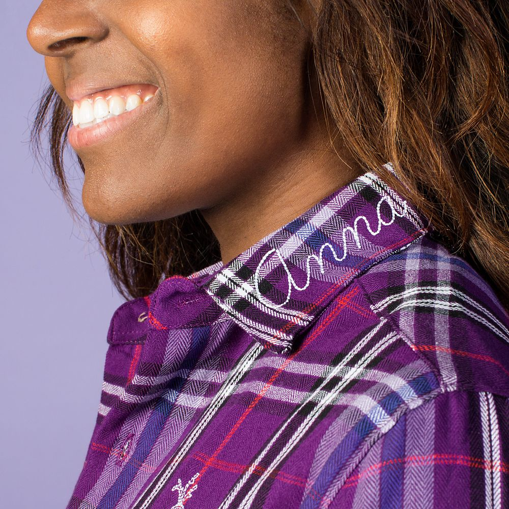 Anna and Olaf Flannel Shirt for Adults by Cakeworthy – Frozen