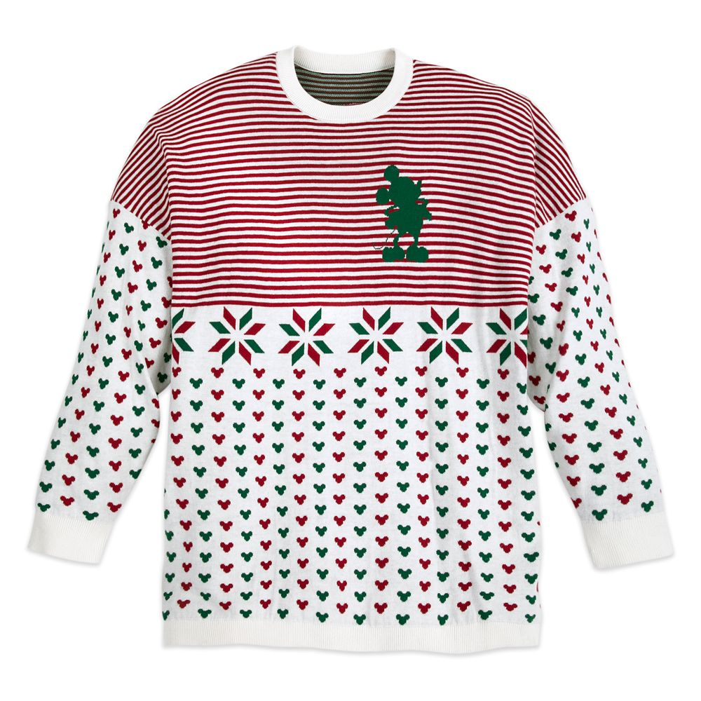 Mickey Mouse Holiday Spirit Jersey Sweater for Adults