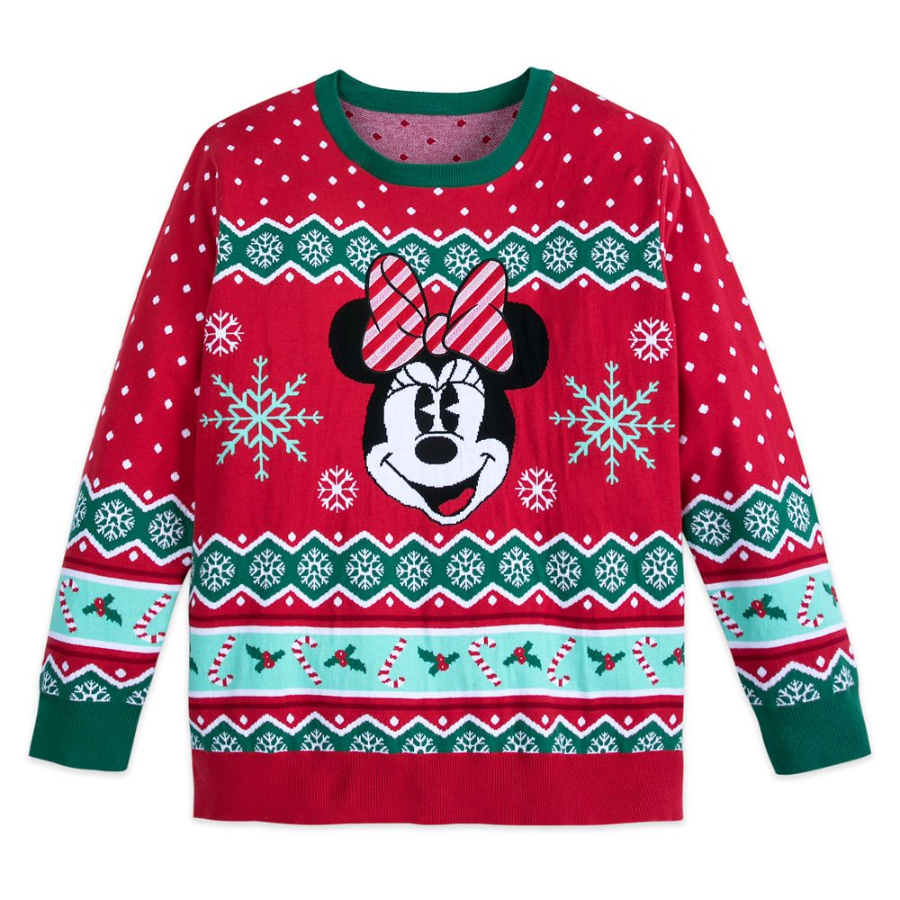Minnie Mouse Family Holiday Sweater for Women – Extended Size