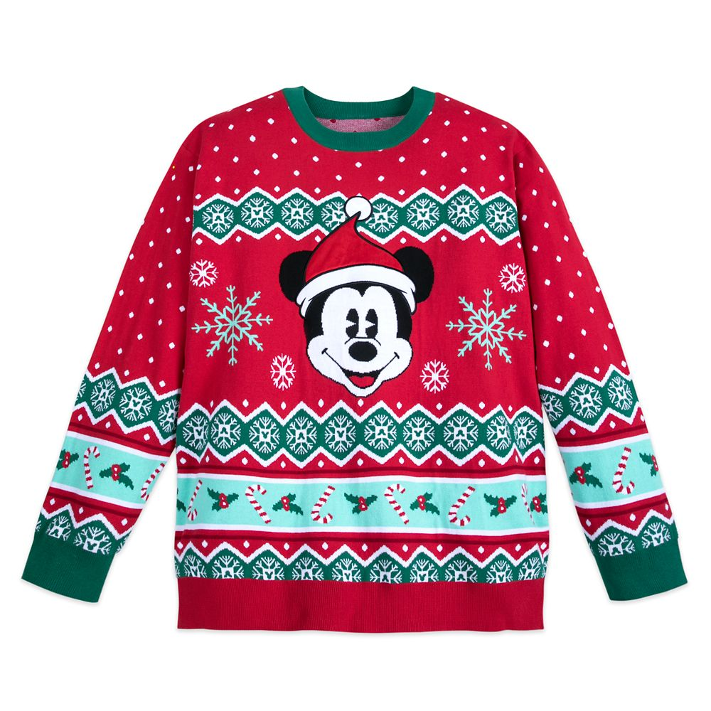 Mickey Mouse Family Holiday Sweater for Men – Extended Size