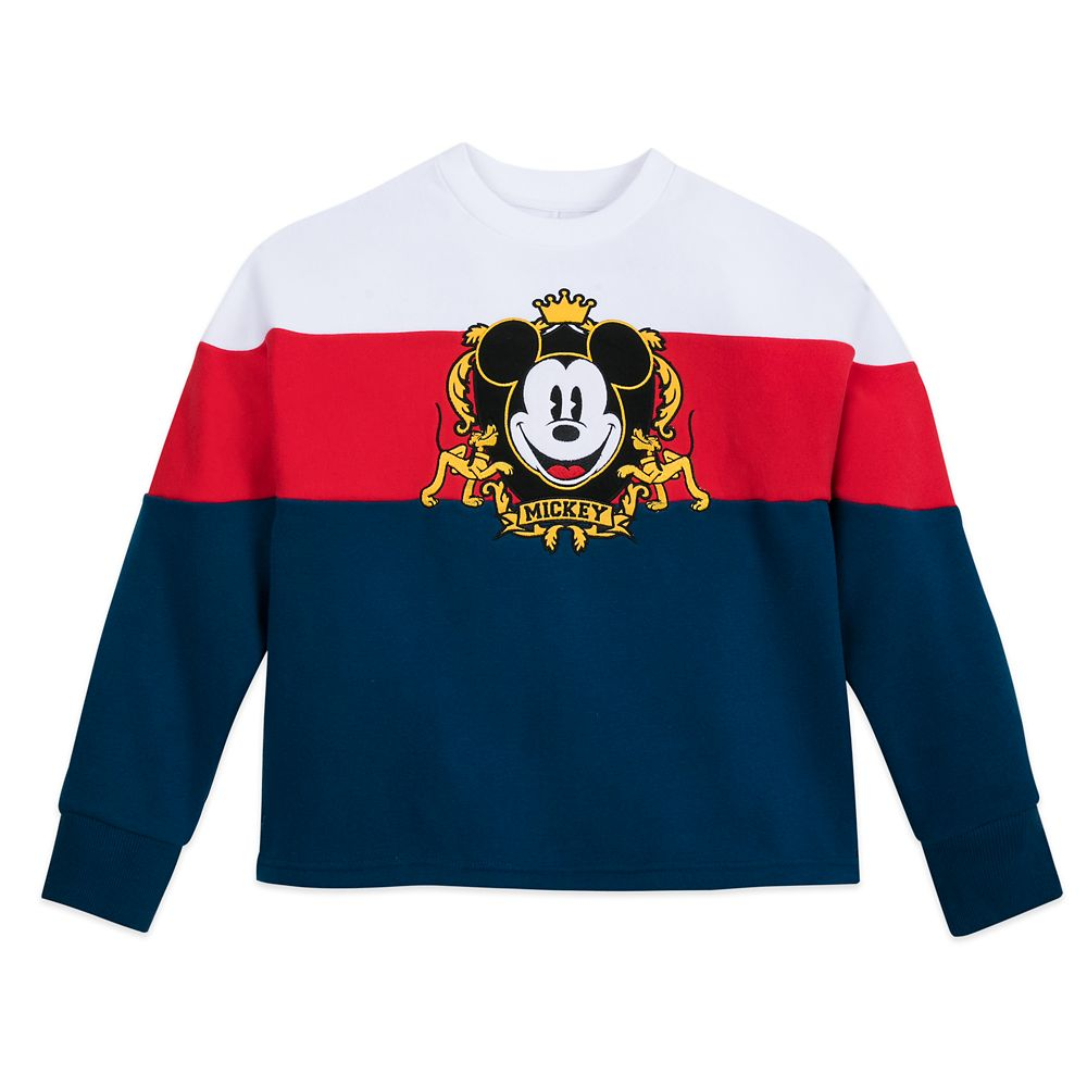 Mickey Mouse and Pluto Collegiate Sweatshirt for Women