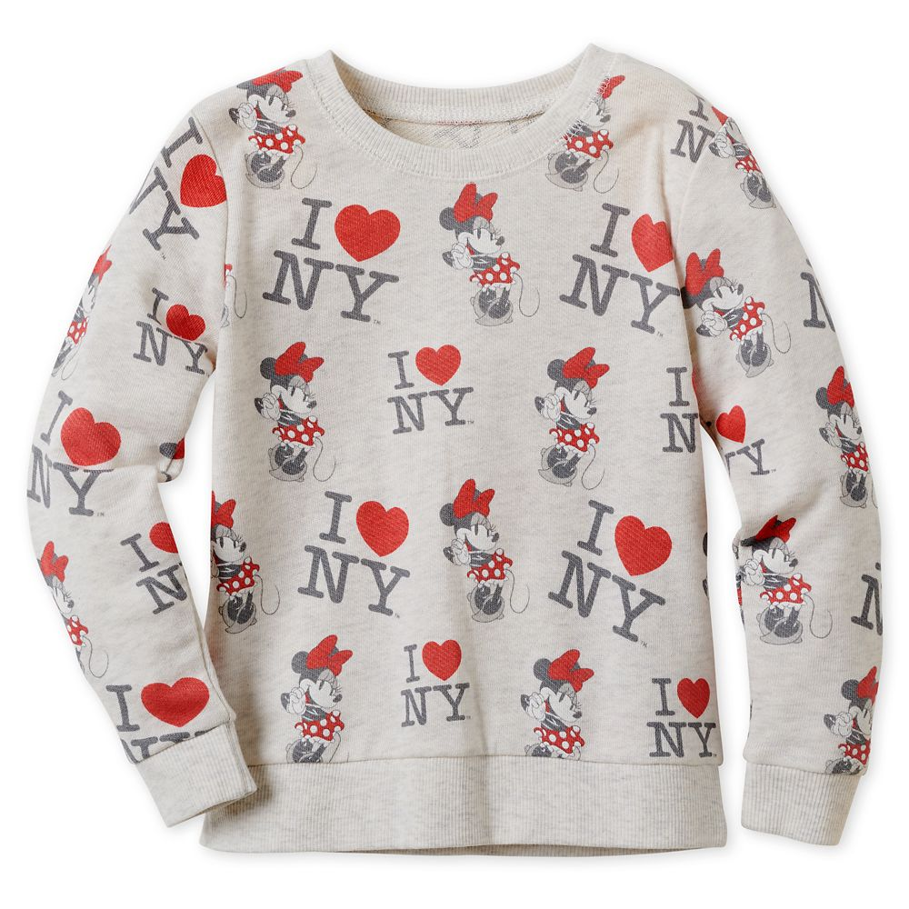 Minnie Mouse I♥New York Sweatshirt for Girls – New York City