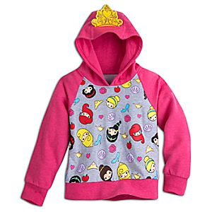 Disney Princess Hooded Fleece Pullover for Kids
