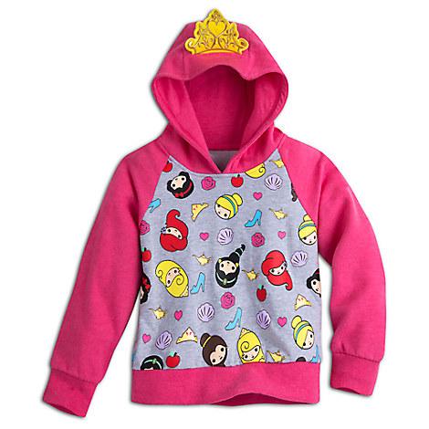 Disney Princess Hooded Fleece Pullover for Kids