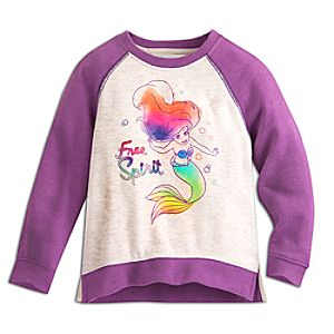 Ariel Raglan Sleeve Sweatshirt for Kids