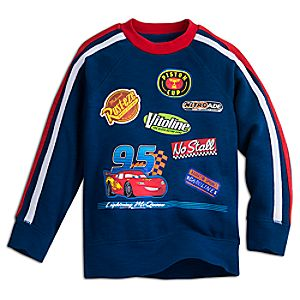 Lightning McQueen Raglan Sleeve Sweatshirt for Kids
