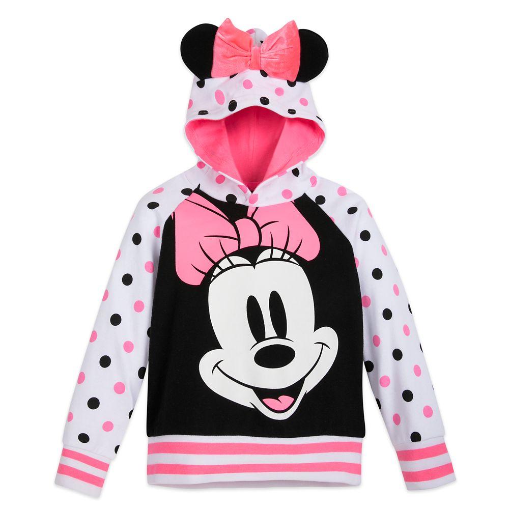 디즈니 걸즈 미니 마우스 후드티 Disney Minnie Mouse Pullover Hoodie for Girls
