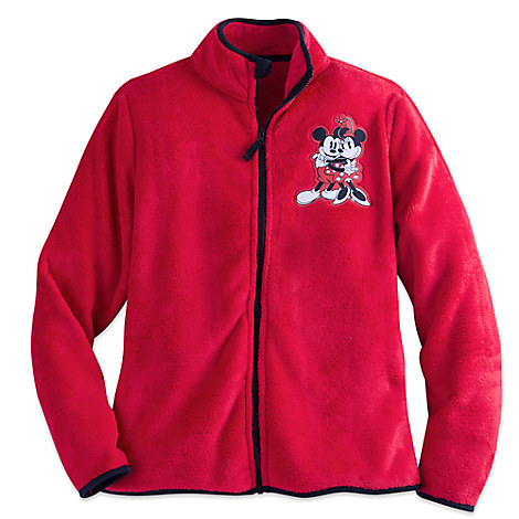 Mickey and Minnie Mouse Fleece Jacket for Women