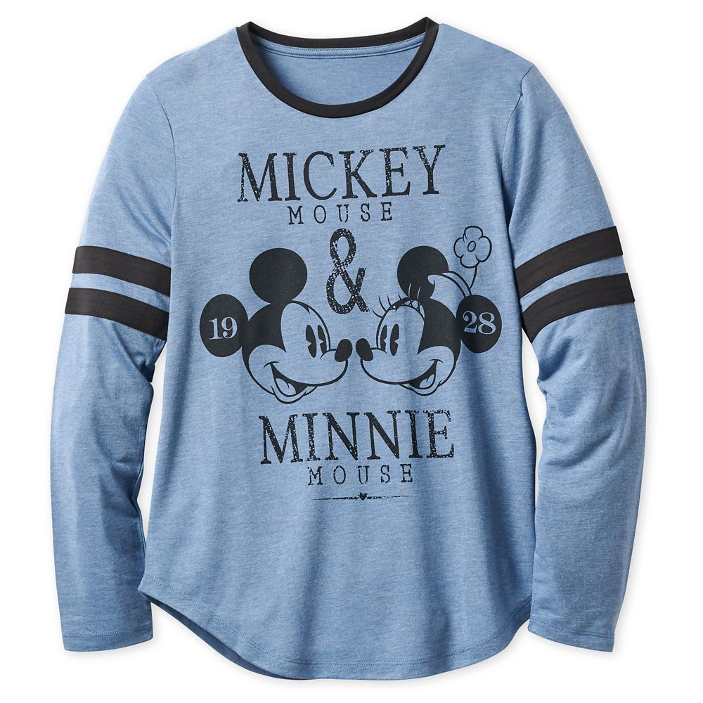 Mickey and Minnie Mouse Long Sleeve T-Shirt for Women