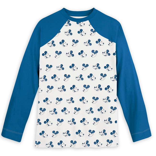 Mickey Mouse Long Sleeve Baseball T-Shirt for Adults