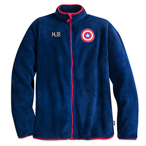 Captain America Fleece Jacket for Men - Personalizable