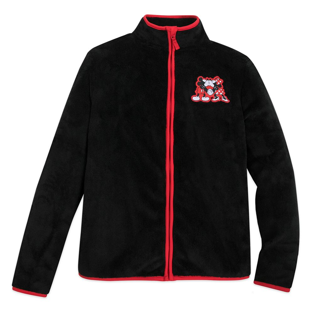 Mickey and Minnie Mouse Zip Fleece Jacket for Adults
