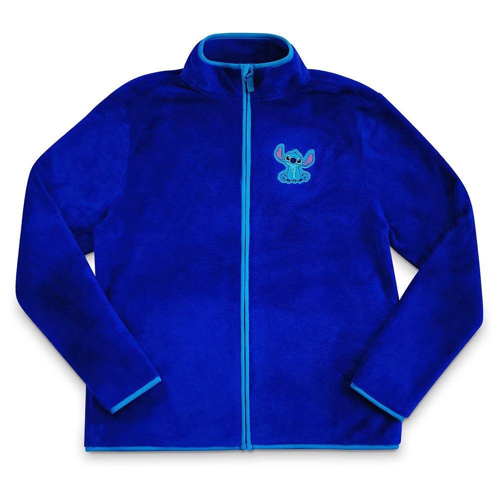 Stitch Zip Fleece Jacket for Women