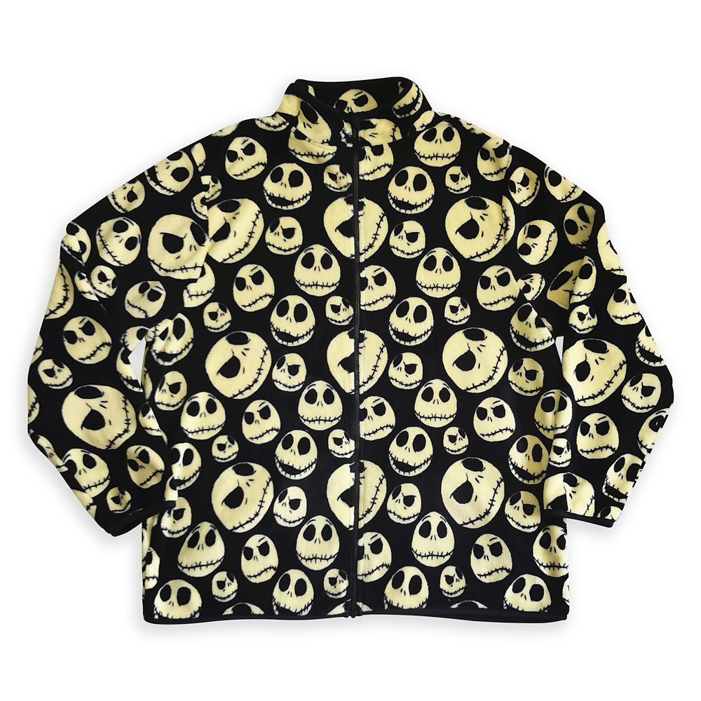 Jack Skellington Zip Fleece Jacket for Men – The Nightmare Before Christmas