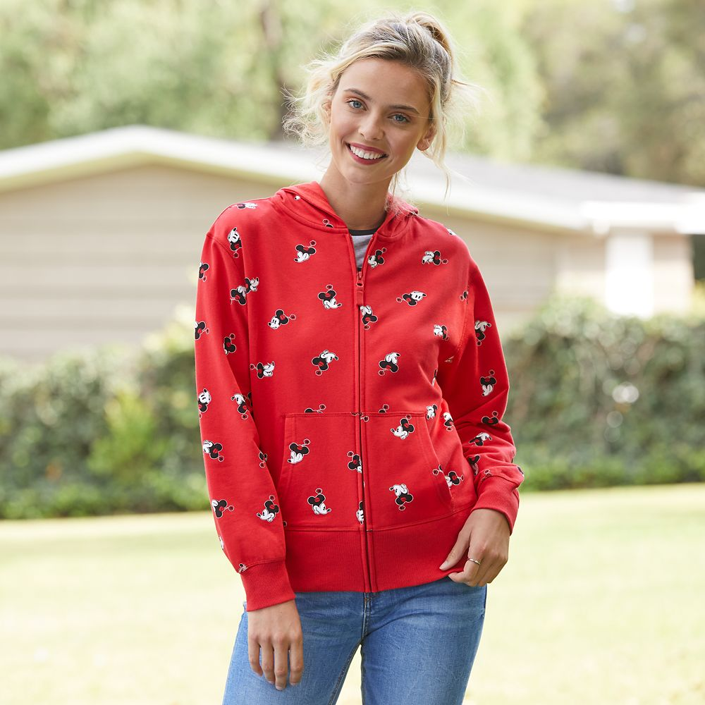Minnie Mouse Zip-Up Hoodie for Adults – Personalized