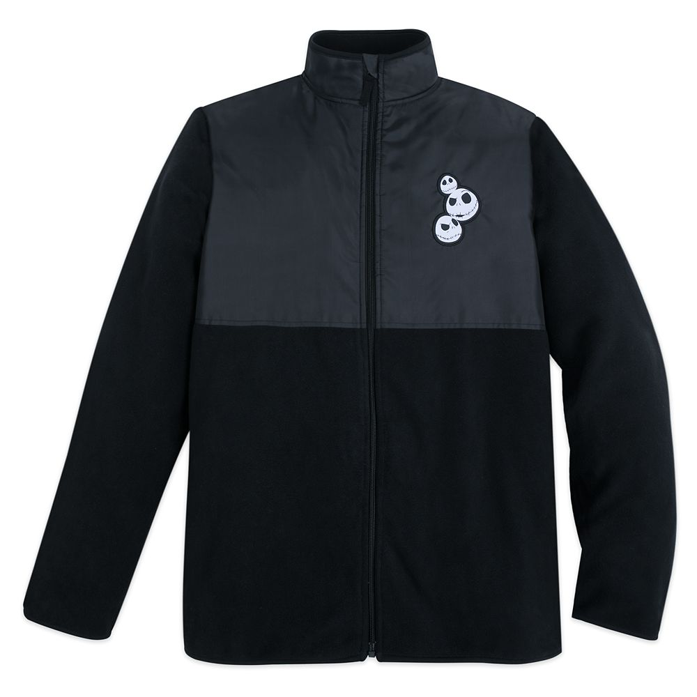 Jack Skellington Pieced Fleece Jacket for Adults