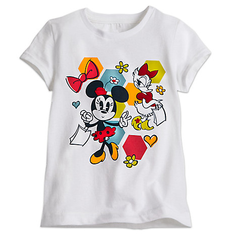 Minnie Mouse and Daisy Duck Summer Fun Tee for Girls