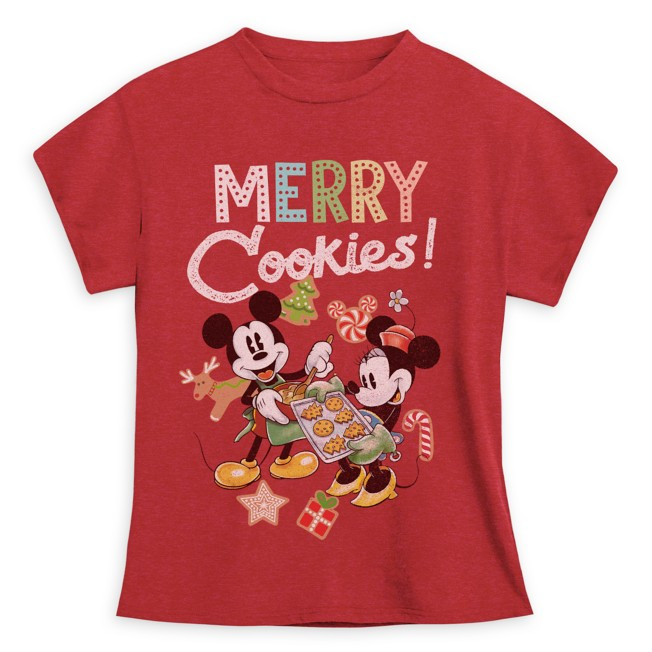 Mickey and Minnie Mouse Holiday T-Shirt for Girls