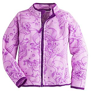 Ariel Fleece Jacket for Girls