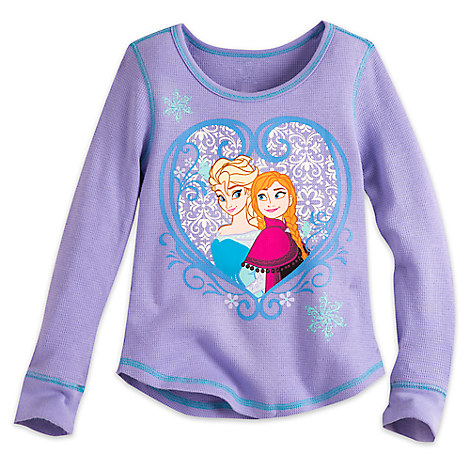 Frozen Long Sleeve Thermal Tee for Girls