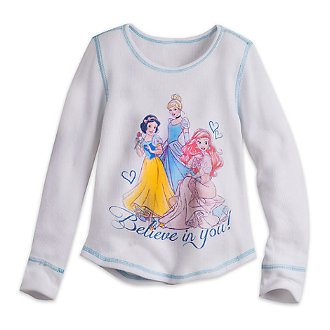 Disney Princess Long Sleeve Thermal Tee for Girls