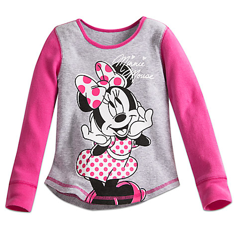 Minnie Mouse Thermal Tee for Girls