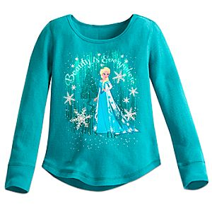 Elsa Thermal Tee for Girls