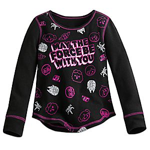 "Star Wars ""May the Force Be With You"" Thermal Tee for Girls"