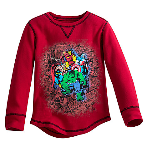 Avengers Comic Book Thermal Tee for Boys
