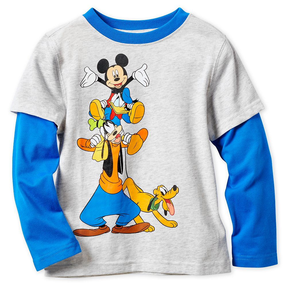 Mickey Mouse and Friends Long Sleeve Layered T-Shirt for Boys