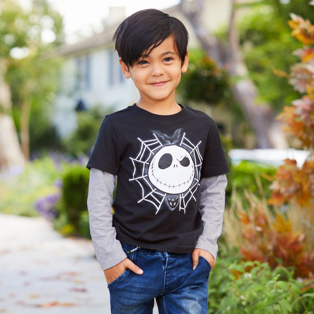 Jack Skellington Layered T-Shirt for Boys